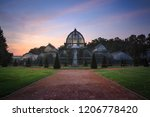dawn at the famous greenhouse... | Shutterstock . vector #1206778420