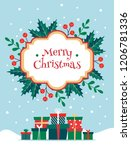 merry christmas greeting card... | Shutterstock .eps vector #1206781336