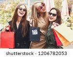 attractive young girls wearing... | Shutterstock . vector #1206782053