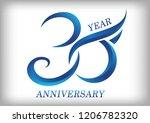 30 years anniversary template... | Shutterstock .eps vector #1206782320