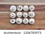 champignons mushrooms  on a...   Shutterstock . vector #1206783973