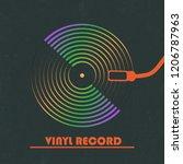 poster of the vinyl record....   Shutterstock .eps vector #1206787963