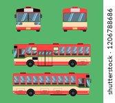 thai bus red green white... | Shutterstock .eps vector #1206788686
