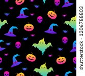 abstract rainbow happy... | Shutterstock .eps vector #1206788803