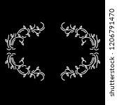 vintage wedding badges florist...   Shutterstock .eps vector #1206791470