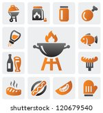 vector color barbecue icons set ... | Shutterstock .eps vector #120679540