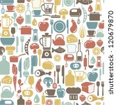 seamless pattern with cooking... | Shutterstock .eps vector #120679870