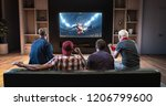 group of fans are watching a... | Shutterstock . vector #1206799600