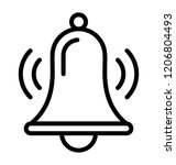 bell design icon for alarm and...