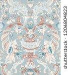 baroque damask pattern ...   Shutterstock . vector #1206804823