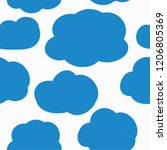 the pattern of clouds. cloudy... | Shutterstock .eps vector #1206805369