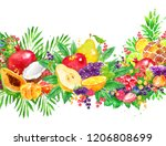hand drawn watercolor colorful... | Shutterstock . vector #1206808699