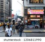 new york  usa   may 27  2018 ...   Shutterstock . vector #1206811990
