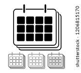calendar vector icon... | Shutterstock .eps vector #1206815170
