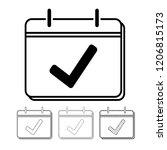 calendar vector icon... | Shutterstock .eps vector #1206815173