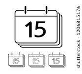 calendar vector icon... | Shutterstock .eps vector #1206815176