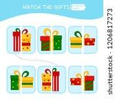 matching children educational... | Shutterstock .eps vector #1206817273