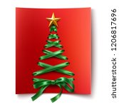 christmas tree made of lace up... | Shutterstock .eps vector #1206817696