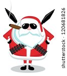 Funny Cartoon Santa With...