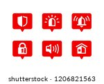 security icons   set of safety... | Shutterstock .eps vector #1206821563