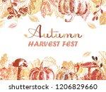 autumn harvest festival poster... | Shutterstock .eps vector #1206829660