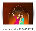 vector illustration of indian... | Shutterstock .eps vector #1206835699