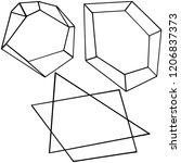diamond rock jewelry mineral.... | Shutterstock . vector #1206837373