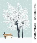 vector winter landscape with a... | Shutterstock .eps vector #1206838243