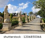 Small photo of Bombarral - Portugal - 11/2012 - Park winery with garden and various Buddha statues and terracotta soldiers at the Buddha Eden Park