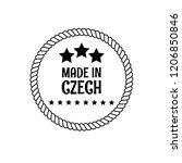 made in czech badge. vintage... | Shutterstock .eps vector #1206850846