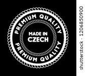 made in czech badge. vintage... | Shutterstock .eps vector #1206850900
