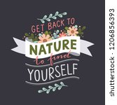 motivation quote about nature... | Shutterstock .eps vector #1206856393