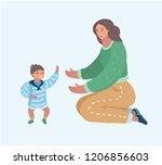 family  motherhood and... | Shutterstock .eps vector #1206856603