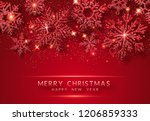 christmas background with... | Shutterstock .eps vector #1206859333