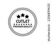 cutlet premium quality badge.... | Shutterstock .eps vector #1206859633