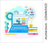distance education  online... | Shutterstock .eps vector #1206865423