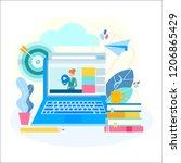 distance education  online... | Shutterstock .eps vector #1206865429