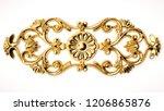 3d rendering beautiful golden... | Shutterstock . vector #1206865876