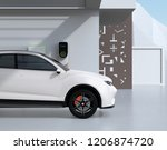 side view of white electric... | Shutterstock . vector #1206874720