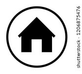 black home icon in black circle....