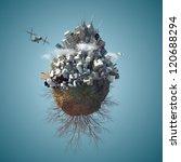 3d Mini Planet As Concept For...