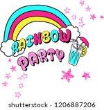 rainbow party love | Shutterstock .eps vector #1206887206