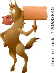 horse with sign | Shutterstock .eps vector #120688840