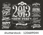 Collection of  Christmas and Happy New Year Labels with retro vintage styled design. Christmas decoration collection | Set of calligraphic and typographic elements, frames, vintage labels. Vector.