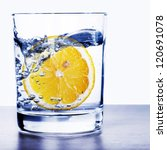 glass of water with lemon | Shutterstock . vector #120691078