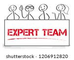 the words expert team holding... | Shutterstock .eps vector #1206912820