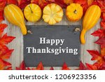happy thanksgiving message... | Shutterstock . vector #1206923356