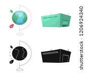 vector illustration of goods... | Shutterstock .eps vector #1206924340