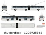 articulated trolleybus vector... | Shutterstock .eps vector #1206925966
