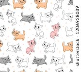 vector seamless background with ... | Shutterstock .eps vector #1206928039